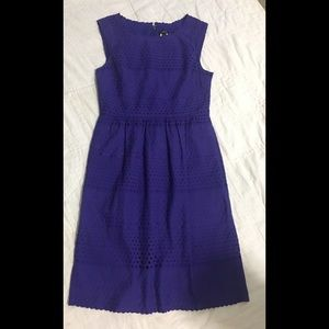 J. Crew Purple Sleeveless Dress-Size 2