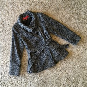 Anne Klein Double-Breasted Peacoat with Belt