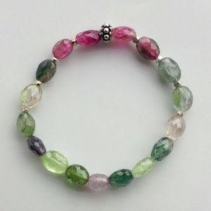Multi Tourmaline Stretch Bracelet NWOT