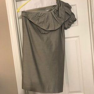 Robert Rodriguez Silk Blend One Shoulder Dress