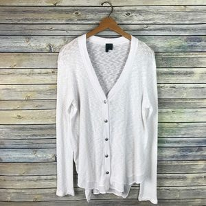 Left of Center Anthropologie White Evie Cardigan