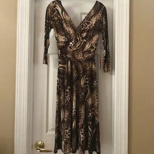 Simon Chang animal print dress