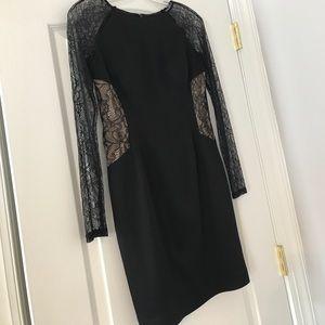 Gorgeous Aidan Maddox black lace cocktail dress