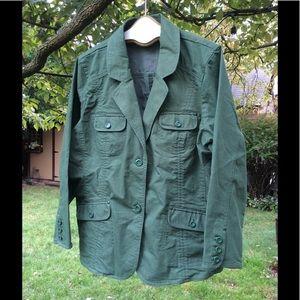 NWOT D&Co OLIVE colored jacket SZ 2X