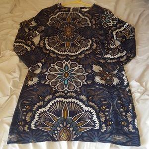 H&M printed long sleeve dress