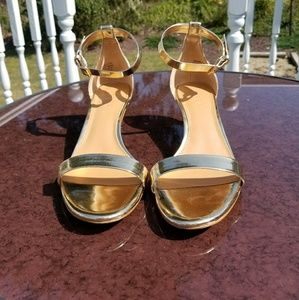 J.Crew Metallic Kitten Heel