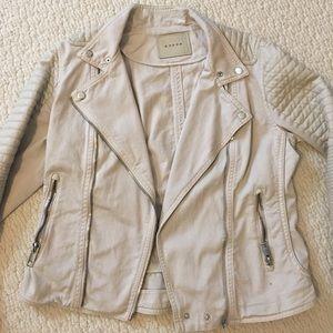 BLANK NYC denim moto jacket. Size large