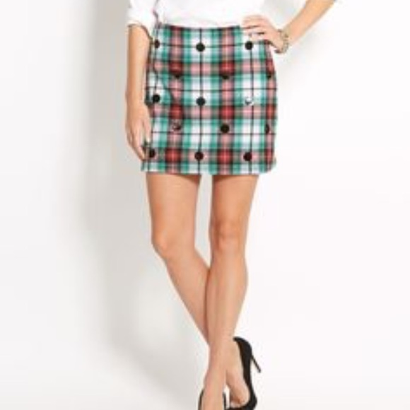 ef7088e093 Vineyard Vines Skirts | Sequin Polka Dot Tartan Plaid Skirt | Poshmark
