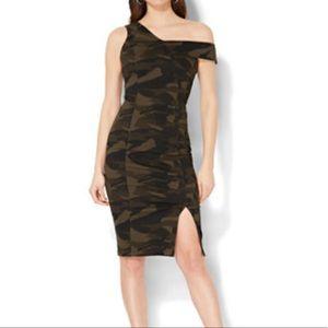 Camo Off Shoulder Dress
