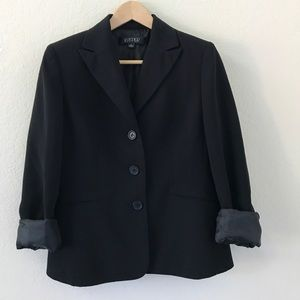 Kasper Classic Black Blazer Suit Jacket