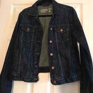 GAP dark denim jacket sz. M