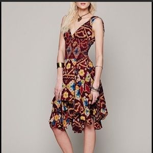 Free People Red Wisteria Dress