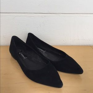 Jeffrey Campbell Ruston Black Suede Pointed Flat 8