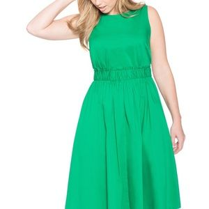 Eloquii Bow Back Kelly Green Dress Size 24
