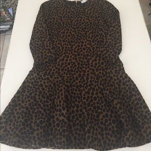 Leopard print drop waist dress