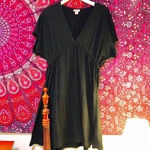 Black cotton skater dress Sz large