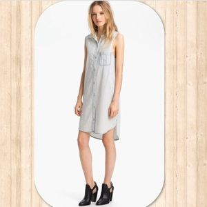 rag & bone Norfolk Light Denim Button Down Dress