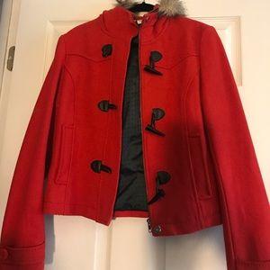 H&M red toggle coat sz. 12