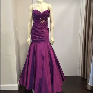 Iridescent Fuschia Evening Gown