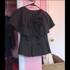 XXI Adorable Overcoat Posh Wool Gray Peacoat S