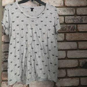 J. Crew Printed Crown T Shirt