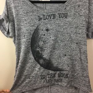 """""""I love you to the moon and back"""" grey tshirt"""