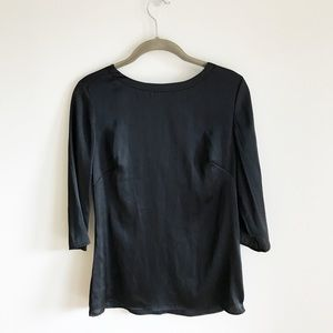 Elegant Black Blouse w/ Scoop Back - Size 4