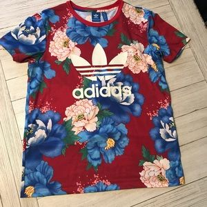 Adidas Floral Boyfriend Tee