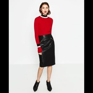 FAUX LEATHER PENCIL SKIRT-NEW ZARA