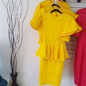 Jupiter Dress in Yellow
