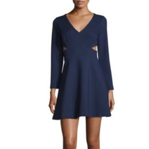 Navy cut out dress