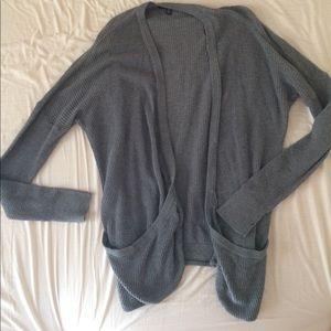 AEO Gray Pocket Sweater
