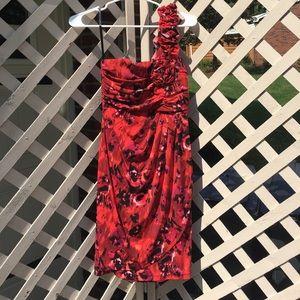 Floral Red Dress