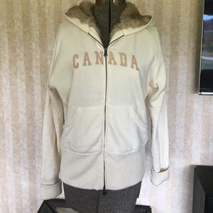 Tops - Canada hoodie with faux fur lined hood.