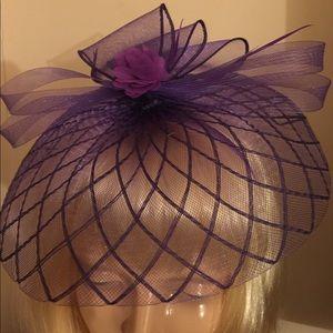 Purple mesh  fascinator headband