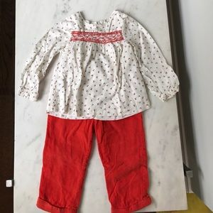 Other - Mini Boden Flower Top Outfit sz 18-24