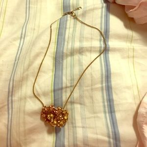 J.Crew pink and gold knot necklace!!