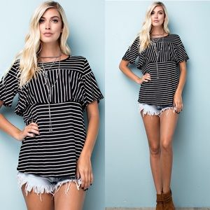 Tops - Stripe Jersey Top