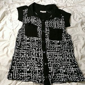 Urban Outfitters Silence+Noise black white top