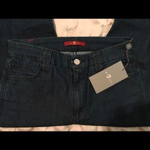 7 for All Mankind hi rise flare NWT 25