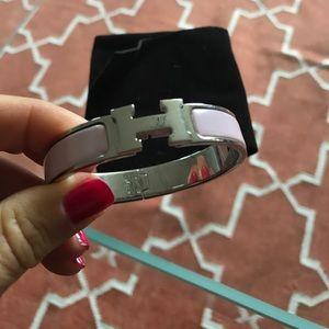 Hermes pink small bangle