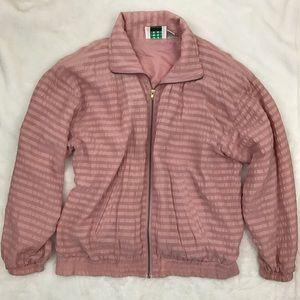 Vintage 90s Pink Bomber Jacket