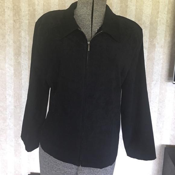 Briggs Jackets & Blazers - Suede look zip front jacket