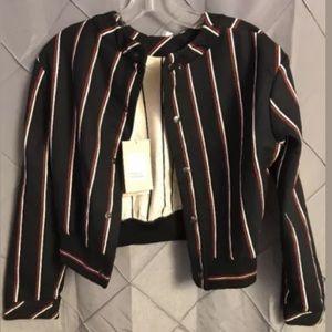 NEW zara trafaluc striped jacket bomber