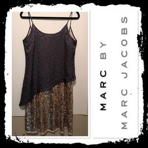 Marc by Marc Jacobs gray and sequin dress