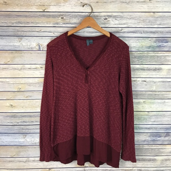 Anthropologie Sweaters - Left of Center Anthropologie Maroon Sweater