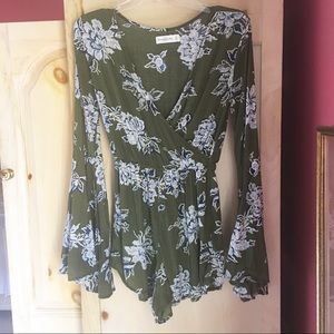 Abercrombie & Fitch Bell Sleeve Romper