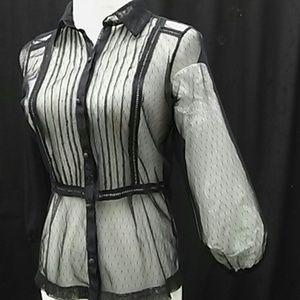 Sheer The Limited mesh black goth vintage see thru