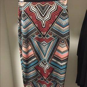 Aztec MIDI length pencil skirt