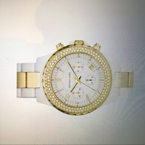 Michaels Kors Women's Watch Mk-5355 White and Gold